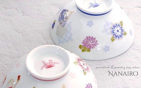 ポーセラーツ♡結婚のお祝いに夫婦茶碗・生徒様作品